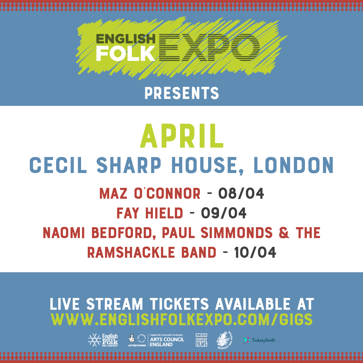 Live Stream from Cecil Sharp House, London