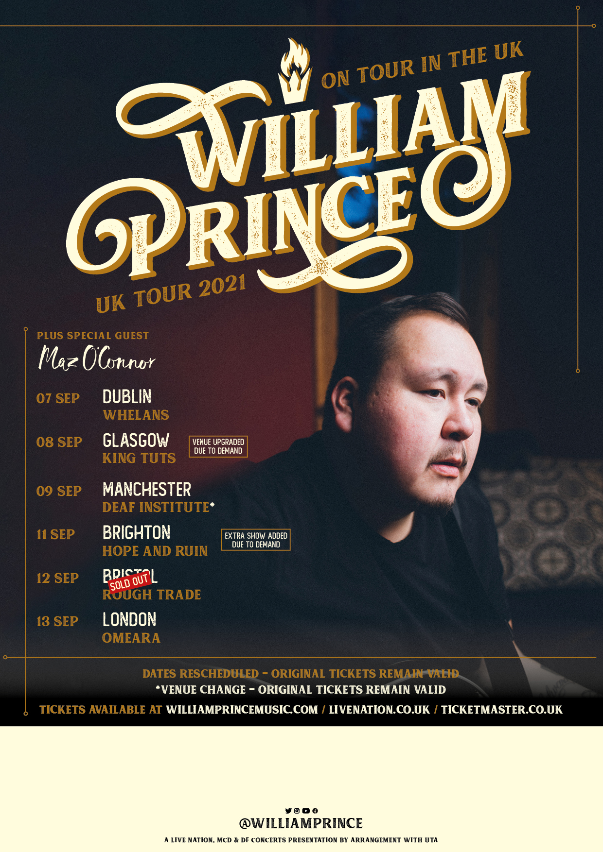 London (opening for William Prince)